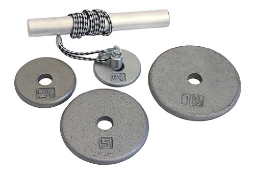 Power Wrist Roller w/ 1'' Grey Plates (1.25lb, 2.5lb, 5lb, 7.5lb) by Ader Sporting Goods