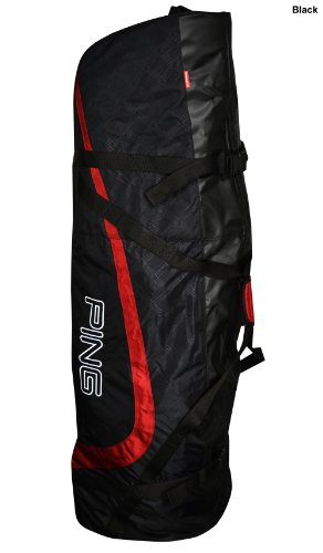 New Ping Golf Travel Cover Travel Bag Black Large Red, Outdoor Stuffs