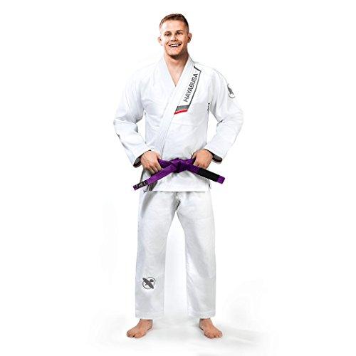 Hayabusa Pro Lightweight Gi, IBJJF Compliant Brazilian Jiu Jitsu Gi (White, A3)