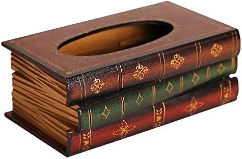 MxZas Retro Art-Buch-Form-Gewebe-Kasten Jzx-n