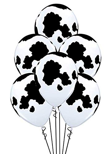 10 Cow Print Balloons -