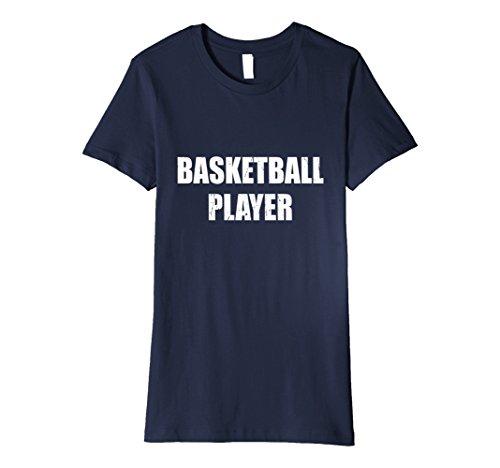 Basketball Player Costume Female (Womens Basketball Player Shirt Halloween Costume Funny Distressed XL Navy)
