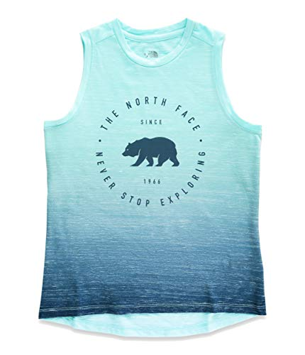 (The North Face Kids Girl's Long and Short of It Tank Top (Little Kids/Big Kids) Blue Wing Teal/Ombre Print Small )