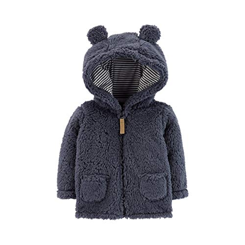 (Carter's Zip-Up Sherpa Jacket Navy, 24M)