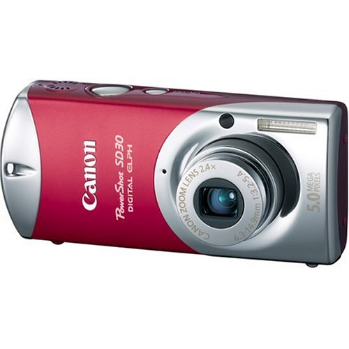 Canon Powershot SD30 5MP Digital Elph Camera with 2.4x Optical Zoom (Rockstar - Powershot Canon Sd30