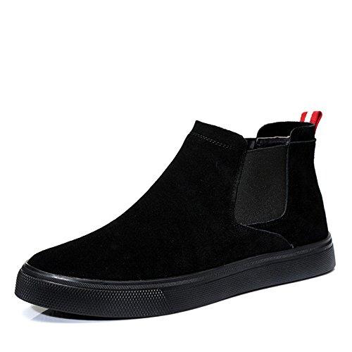 invernali in scarpe occasionale l'inverno scarpe stivali martin GTVERNH shoes calda mens con inverno stivali Single corrente scamosciate uomini due cashmere qadZX
