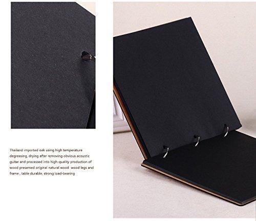 11 x 8 inch DIY Wood Cover Photo Album Self Adhensive Black Cards Scrapbook Album,30 Sheets (Full Love) by Green fox (Image #3)