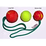 Herm Sprenger solid rubber ball with handle (Medium)