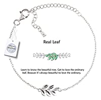Vivid&Keith Women's Bracelet 925 Sterling Silver Jewelry 18K Plated Adjustable with Swarovski Zirconia Charm Bracelet…
