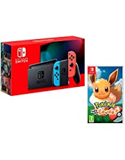 Nintendo Switch 32Gb Neon-Rot/Neon-Blau + Pokémon: Let´s Go, Evoli!