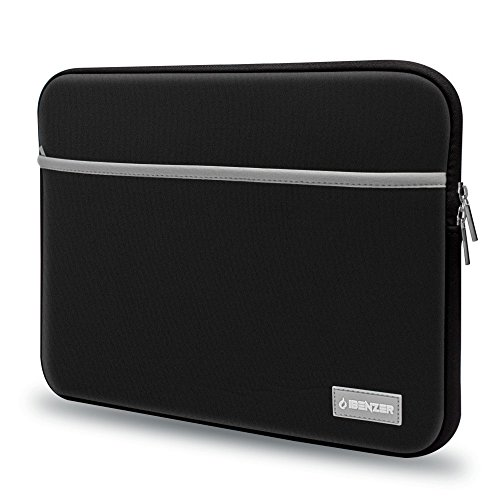iBenzer Basic 13.3 Neoprene Protective Laptop Case Sleeve Bag with Accessory Pocket for 13-13.3 Inch Laptop, MacBook Pro 13, MacBook Air 13, Black BG13BK