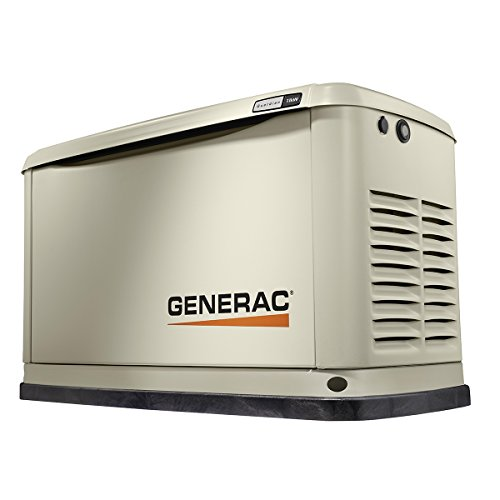 Generac 7031 7031-Guardian Series 11/10kW Air-Cooled, Alum Enclosure Home Standby Generator, Aluminum