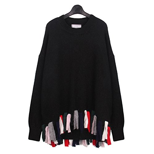 sicong2-sweet-winter-european-wind-casual-style-solid-collar-tassel-hem-full-regular-sleeve-pullover