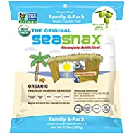 SeaSnax Organic Roasted Seaweed Snack Classic Olive, 2.16 oz