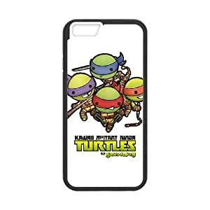 Ninja Turtles 001 iPhone 6 4.7 Inch Cell Phone Case Black TPU Phone Case RV_600361