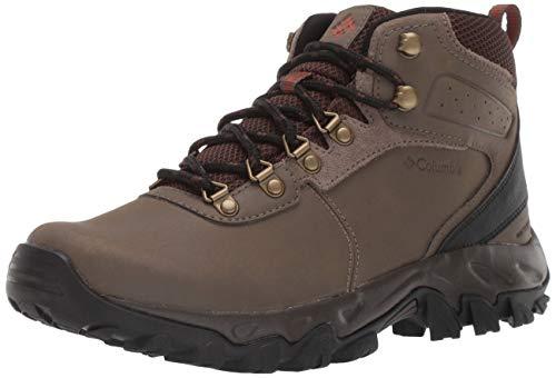Columbia Men's Newton Ridge Plus II Waterproof Hiking Shoe, Mud, Sanguine, 11.5 D US