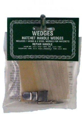 Link Handle Wood & Steel Wedges A=1-3/8 '', B=2-1/2 '', C=1/4 ''