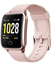 Smartwatch Donna Uomo,Smart Watch Orologio Fitness Android iOS Contapassi Cardiofrequenzimetro da Polso Orologio Sportivo Bluetooth Touch Conta Calorie Activity Tracker IP68 con Cronometri