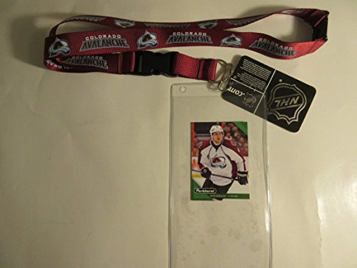 COLORADO AVALANCHE OFFICIAL LANYARD KEYCHAIN WITH TICKET HOLDER PLUS COLLECTIBLE PLAYER CARD - Colorado Avalanche Tickets