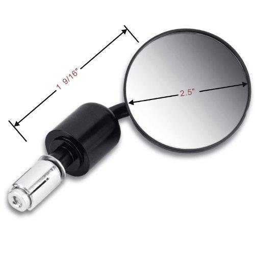 DLLL Scorri sopra limmagine per ingrandirla 7//20,3 cm moto mano specchietti retrovisori universale regolabile 7,6 cm Round End specchietti laterali moto laterale specchio