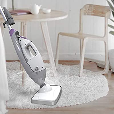Steam Mop Steam Cleaner Hardwood Floor Steamer for Tile Grout Laminate Carpet 5-In-1 Electric Floor Cleaing Steamer Mop,Handheld Garment Steamer Clothes Cleaner Window Cleaner 11.5Oz Tank,20FT Cord