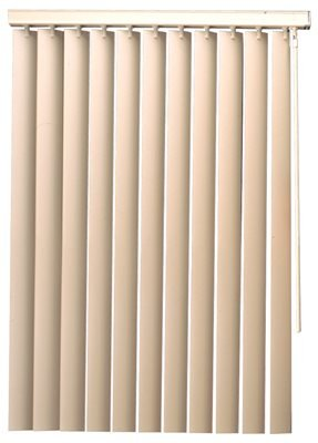 Hardware Express 2470912 Designers Touch 3.5 in. PVC Vertical Blinds, Alabaster, 47 x 36 in.