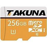 TAKUNA 256GB Micro SD SDXC Card High Speed Micro SD SDXC Card Class 10 Memory Card with SD Adapter