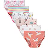 Sladatona Little Girls' Soft Cotton Underwear Bring Cool, Breathable Comfort Experience Panty 6-7years Red/Pink