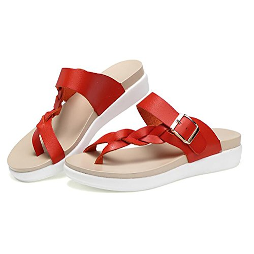 Interior Verano Zapatos Antideslizante Red 39 Mujer Sandalias Chanclas Y Zapatilla Red Exterior qgdwWSXW