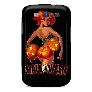 Mjdavis Premium Protective Hard Case For Galaxy S3- Nice Design - Pumpkin Bum Pkin