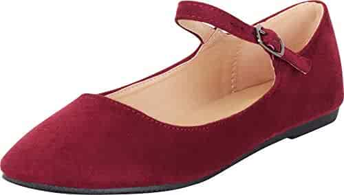 747a976f996 Cambridge Select Women s Classic Mary Jane Almond Toe Ballet Flat