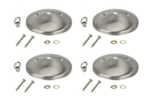 (Aspen Creative 21503-4 Modern Light Fixture Canopy Kit, 5