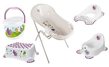 Hippo wei/ß Baby Badewanne XXL 100 cm Badewannenst/änder Waschhandschuh