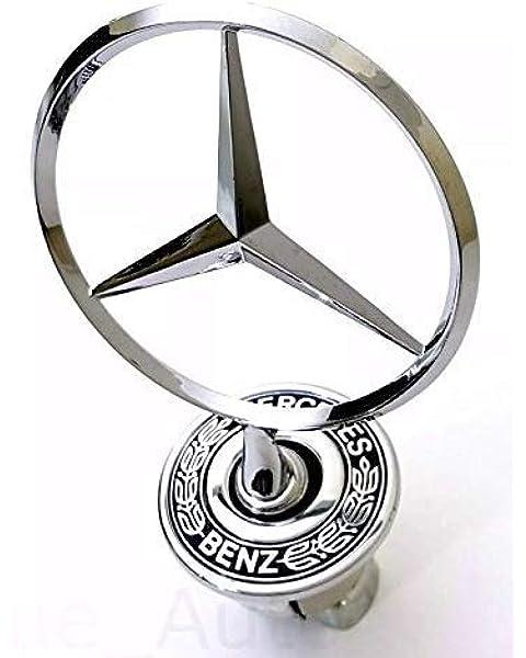 bearfire 3D Emblem Car Logo Front Hood Ornament Car Cover Chrome Eagle Badge Mercedes benz