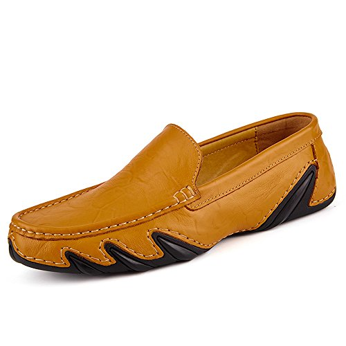 SanYes Men's Driving Premium Genuine Leather Men Flat Driving Men's Shoes Casual Slip On Penny Loafers Moccasins B079GS7K7B Shoes 7dd3aa