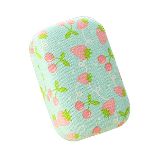 [Well Design Cute Cartoon Contact Lenses Cases Lens Holder (Strawberry Style)] (Prescription Colored Contact Lenses)