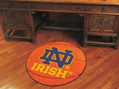 Fighting Irish Basketball Rug (Notre Dame Basketball Rug)