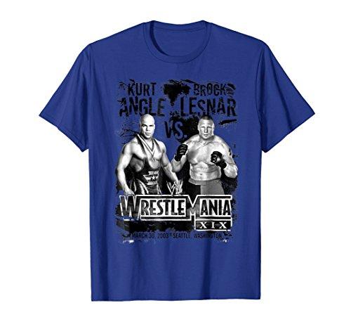 WWE Wrestlemania 19 Kurt Angle Vs. Brock Lesnar Graphic Tee by WWE