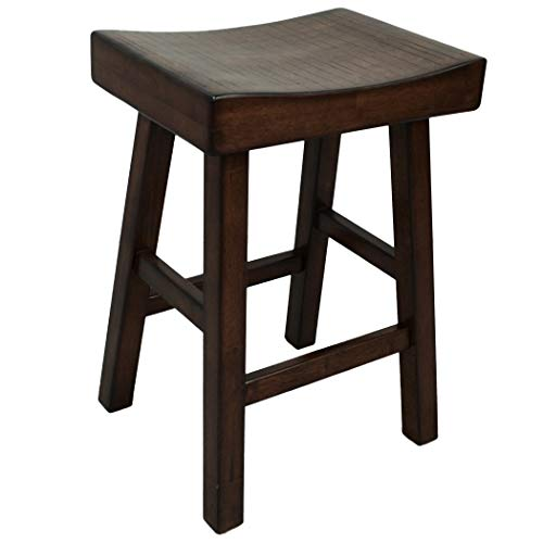 Carolina Chair & Table 1548-24ESP Colborn 25 Inch Counter, Saddle Seat, Wooden Stool, Espresso