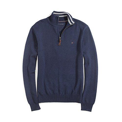Tommy Hilfiger Herren 1/2 Zip Pullover, Men's Sweater, Cotton, Size: X-Large