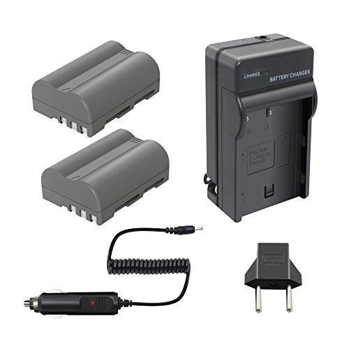 Bonadget 2 Pack Replacement Nikon EN-EL3E Battery and Charger for Nikon D90 D80 D200 D50 D700 D70 D50 D70s D100 D300s