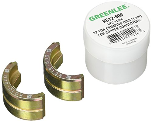 Greenlee KC12-500 Crimping Die for Greenlee 12-Ton Tools, Copper, 500 Kcmil MCM