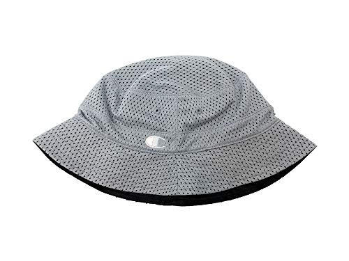 - Champion Men's Mesh Bucket Hats Lightweight Reversible Hat (S/M, Grey/Black)