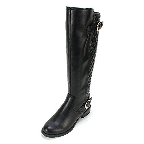 White Mountain Women's Logical Riding Boot, Black, 7.5 M US