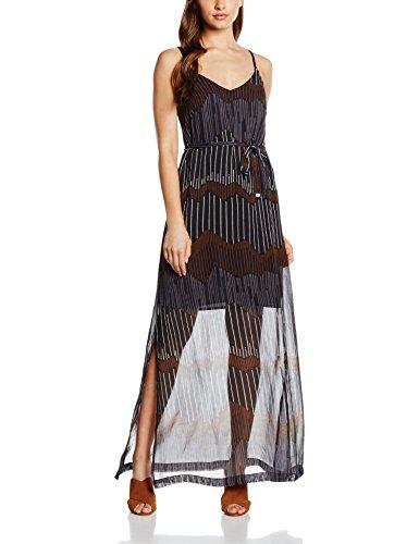 Great Plains Sand Dunes Maxi Dress, Vestido para Mujer, Azul Marino Blau (Ebony Navy Combo)