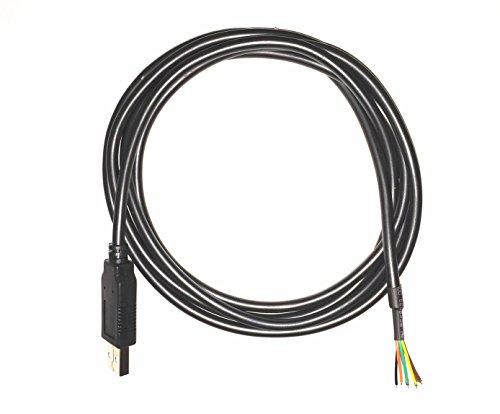 EZSync FTDI chip usb to 5v TTL UART serial cable, wire end, 1.5m, TTL-232R-5V-WE compatible, EZsync009 by EZSync (Image #1)