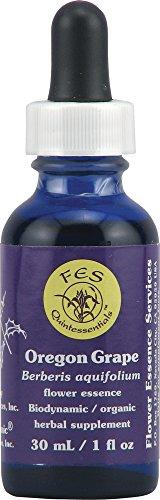 - Flower Essence FES Quintessentials Oregon Grape Supplement Dropper -- 1 fl oz