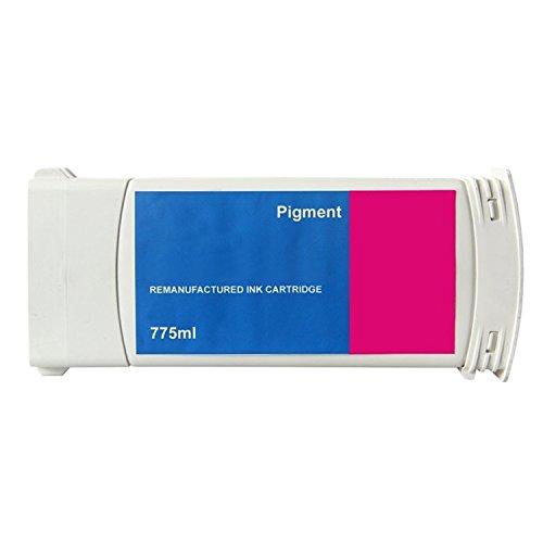 - 2x G&G Magenta Ink Cartridge Reman compatible with HP #91 Inkjet Magenta compatible with HP C9468A 775ml