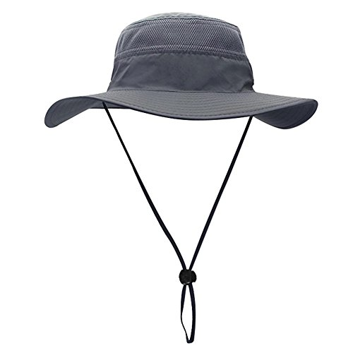 Egoz Wide Brim Booney Sun Hat - Summer UV Protection Packable Boonie Cap - Hiking Camping Fashion Outdoor Hunting Fishing Hat - Bonus Nylon Travel Bag (Grey) Boonie Hat Nylon Hat