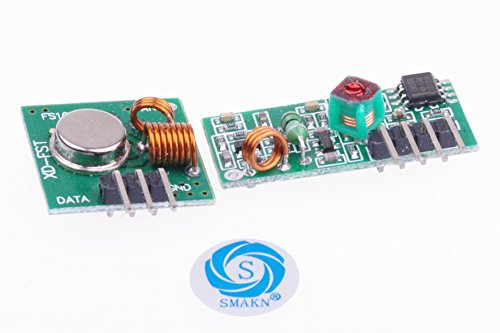 SMAKN 433Mhz Rf Transmitter and Receiver Link Kit for Arduino/Arm/McU